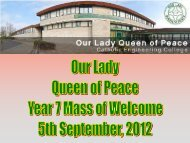 Mass powerpoint - Our Lady Queen of Peace Catholic Engineering ...