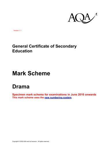 essay marking scheme