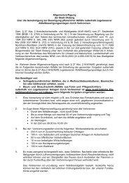Allgemeinverfügung der Stadt Olsberg über die Genehmigung zur ...