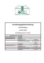 Verwaltungsgebührensatzung - Olsberg