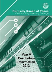 Y9 Choices Booklet2012-14 - Our Lady Queen of Peace Catholic ...