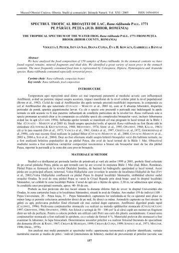 download pdf - Oltenia, Studii si Comunicari, Stiintele Naturii