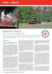 Idyllischer Yangtze. CHINA – YANGTZE