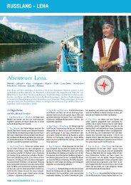 Abenteuer Lena. Russland - lena - Olympia Reisen