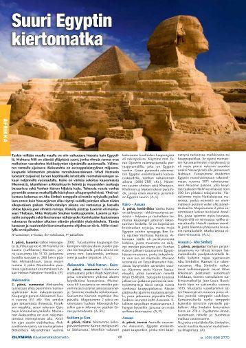 Suuri Egyptin kiertomatka - Olympia Kaukomatkatoimisto