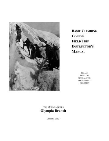 Basic Climbing Field Trip Instructor - Olympia Mountaineers