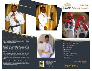 Karate Flyer - Olympia!