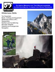 Wilderness Skills - Olympia Mountaineers