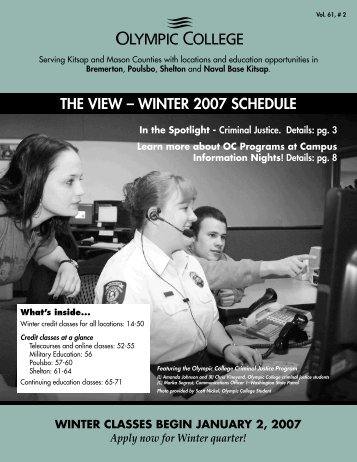 THE VIEW – WINTER 2007 SCHEDULE - Olympic College