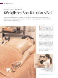 Königliches Spa-Ritual aus Bali - être belle