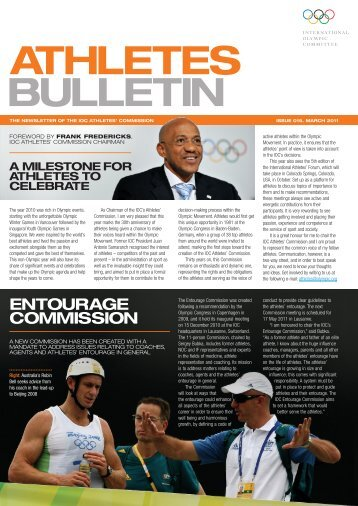 Bulletin des athlètes Numéro 015 Mars 2011 - International Olympic ...