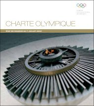 Charte Olympique 2007 - International Olympic Committee