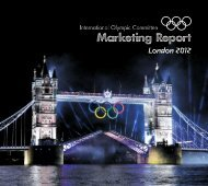 Marketing Report London 2012 - International Olympic Committee