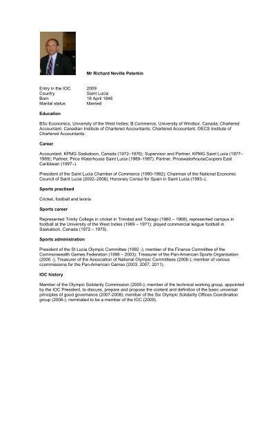 new IOC members - International Olympic Committee