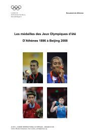 Document de référence - International Olympic Committee