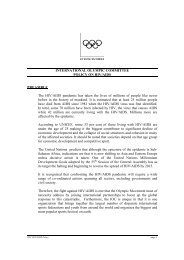 INTERNATIONAL OLYMPIC COMMITTEE POLICY ON HIV/AIDS ...