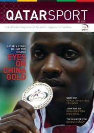 EYES ON CHINA GOLD - Qatar Olympic Committee