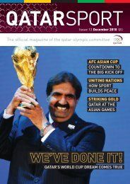 The official magazine of the qatar olympic committee