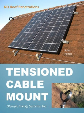 Tensioned Cable Mount - Olympic Energy Systems, Inc.