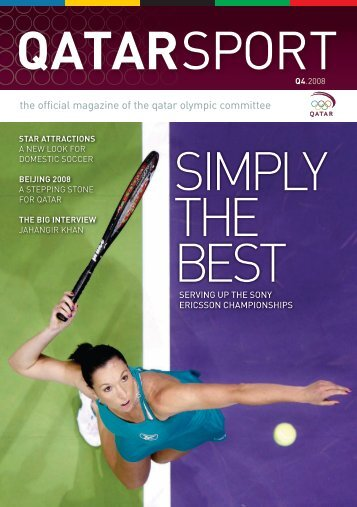 the official magazine of the qatar olympic committee QatarSport