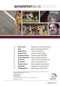 the official magazine of the qatar olympic committee QatarSport - Page 3