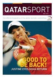 JUSTINE EYES DOHA RETURN - Qatar Olympic Committee