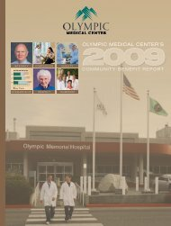 OLYMPIC MEDICAL CENTER'S