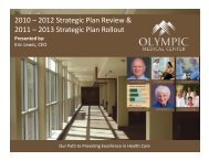 Strategic Plan Strategic Plan - Olympic Medical Center