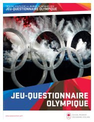 JEU-QUESTIONNAIRE OLYMPIQUE
