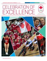 2012 Celebration of Excellence PDF - Canadian Olympic School ...
