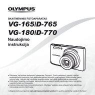 Naudojimo instrukcija VG-165/D-765 VG-180/D-770 - Olympus