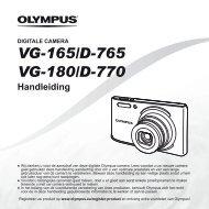 Handleiding VG-165/D-765 VG-180/D-770 - Olympus