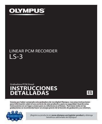 INSTRUCCIONES DETALLADAS - Olympus