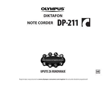 DIKTAFON NOTE CORDER DP-211 - Olympus