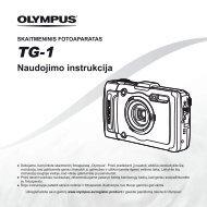 Naudojimo instrukcija TG-1 - Olympus