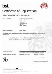 Energy Management System ISO 50001:2011 - Olympus