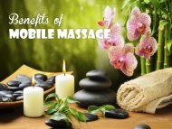 Benefits of Mobile Massage in Gold Coast