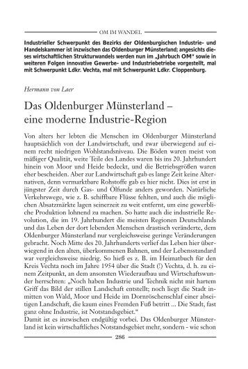 eine moderne Industrie-Region - Verbund Oldenburger Münsterland