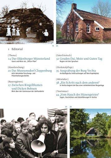 1 Editorial 14 Das Oldenburger Münsterland 20 Das Museumsdorf ...