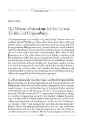 Die Wirtschaftsstruktur der Landkreise Vechta und Cloppenburg