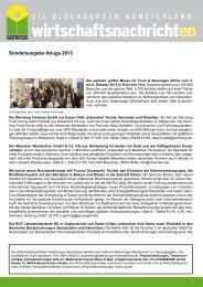 Ausgabe Anuga 2013 - Verbund Oldenburger Münsterland