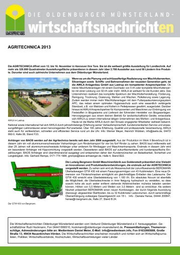 AGRITECHNICA 2013 - 15.indd - Verbund Oldenburger Münsterland