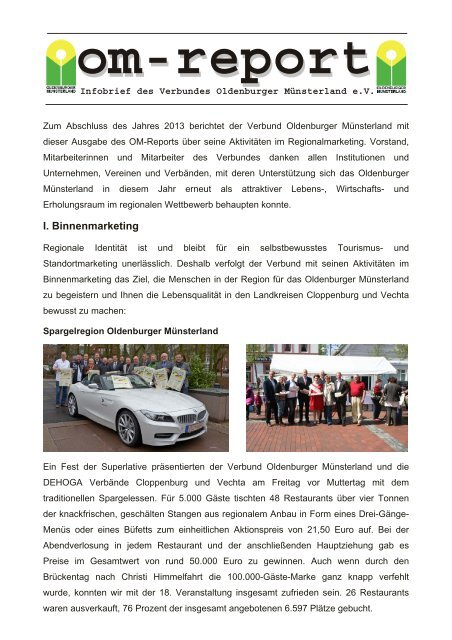 om-report 2013 - Verbund Oldenburger Münsterland