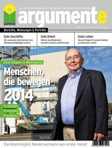 argumente 2014 - Verbund Oldenburger Münsterland