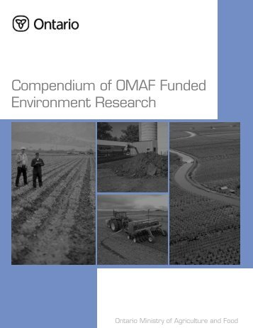 2004 Compendium of OMAFRA Funded Environment Research