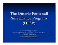OFSP - Ontario Ministry of Agriculture, Food and Rural Affairs ...