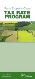 PDF version (4689 kb) - Ontario Ministry of Agriculture, Food and ...