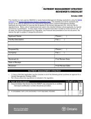 NUTRIENT MANAGEMENT STRATEGY REVIEWER'S CHECKLIST