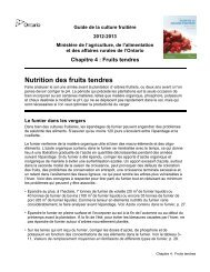 Nutrition des fruits tendres - Ontario Ministry of Agriculture, Food and ...