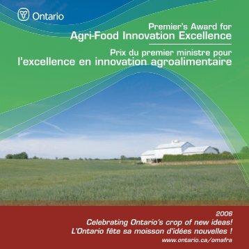 Brochure régionale de Sudbury - Ontario Ministry of Agriculture ...